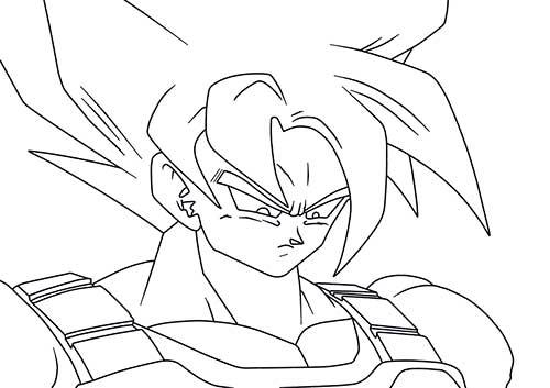 Desenho De Saiyan Para Colorir: 50 Desenhos Do Goku Para Colorir (Anime Dragon Ball Z