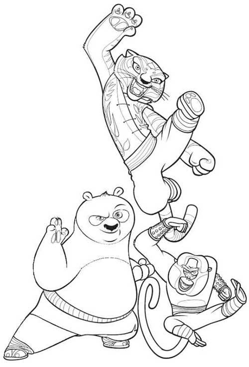 10 Dicas De Desenhos Do Kung Fu Panda Para Colorir