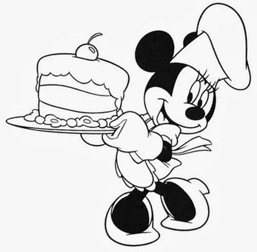 minnie mouse coloring pages a4 - photo#19