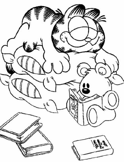 35 Desenhos Do Garfield Para Imprimir E Pintar Em Casa