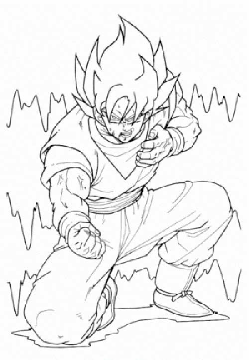 50 Desenhos do Goku para Colorir (Anime Dragon Ball Z)