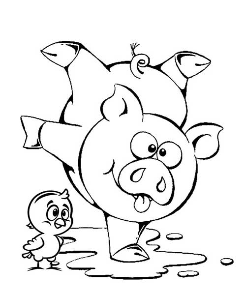 pig in mud coloring pages - photo#21
