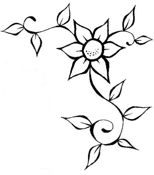 50 Desenhos De Flores Para Colorir/Pintar Em Casa