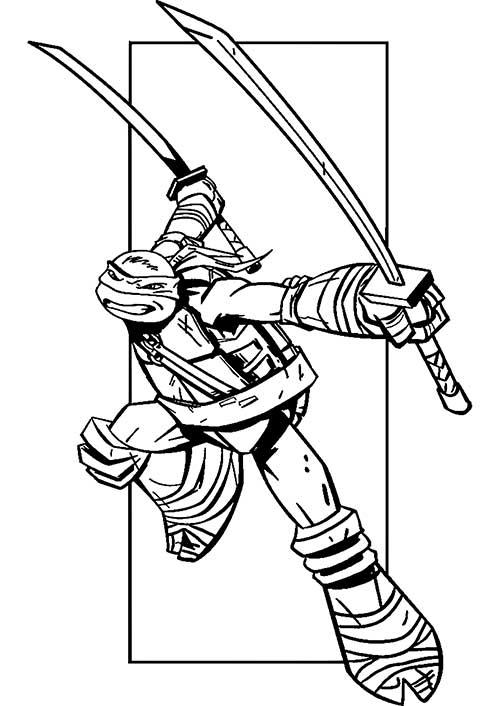 49 Desenhos Das Tartarugas Ninja Para Pintar Colorir