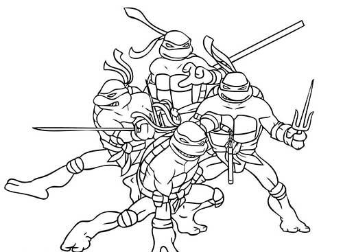 Desenhos Das Tartarugas Ninja Para Pintar Colorir