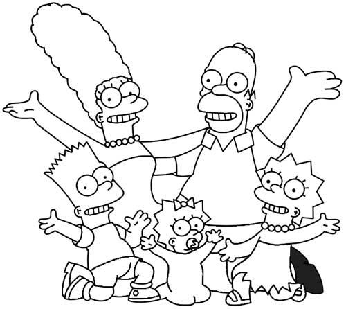 49 Desenhos De Os Simpsons Para Pintar Colorir