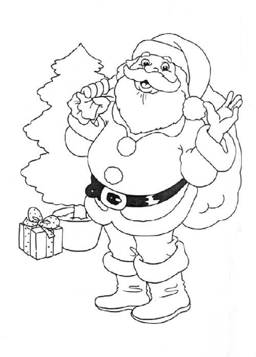 49 Desenhos Infantis Do Papai Noel Para Colorir