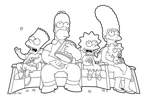 Easy Simpsons Coloring Pages