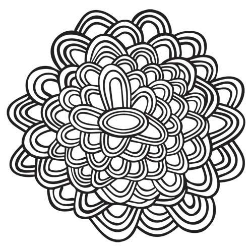 Desenhos Abstratos E Geometricos Para Colorir Facil