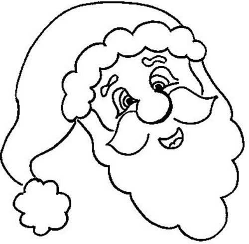 30 Desenhos Infantis do Papai Noel para Colorir