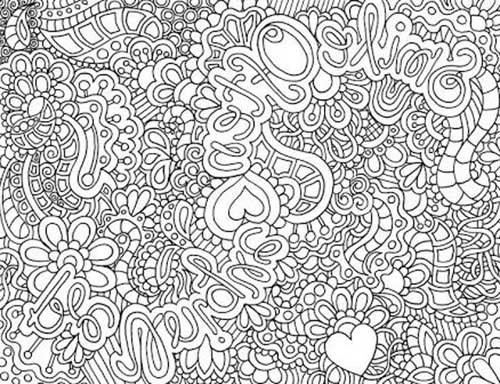 Desenhos Abstratos e Geom tricos para Colorir F cil