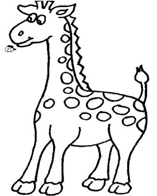 30 Desenhos De Girafa Para Pintar/Colorir E Imprimir