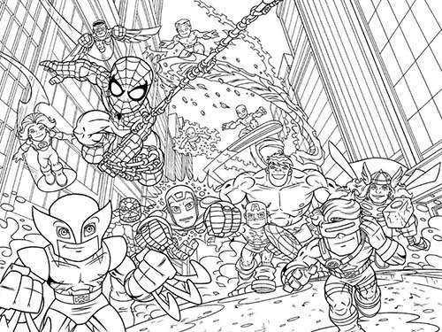 elastico superheroes coloring pages - photo#34