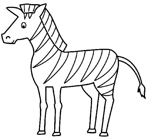 30 desenhos de zebra para pintar for Zebra without stripes coloring page