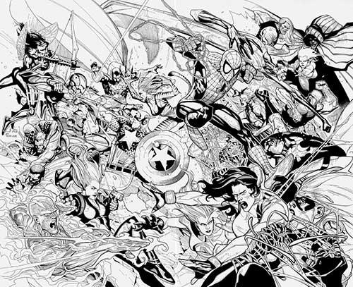 25 Desenhos Da Marvel Para Colorir/Pintar Grátis