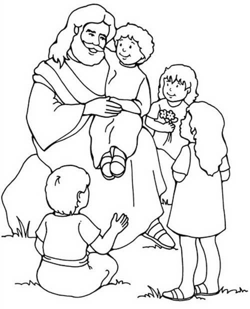 people following jesus coloring pages - photo#9