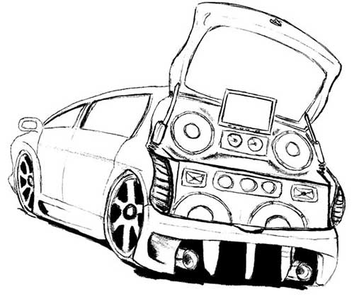 50 Desenhos De Carros Para ColorirPintar