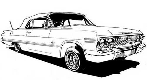 50 Desenhos De Carros Para Colorir Pintar