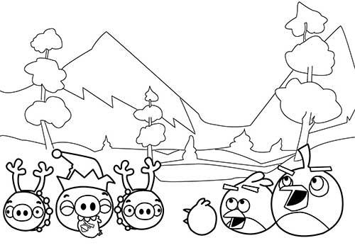 25 Desenhos Do Angry Birds Para Colorir Em Casa