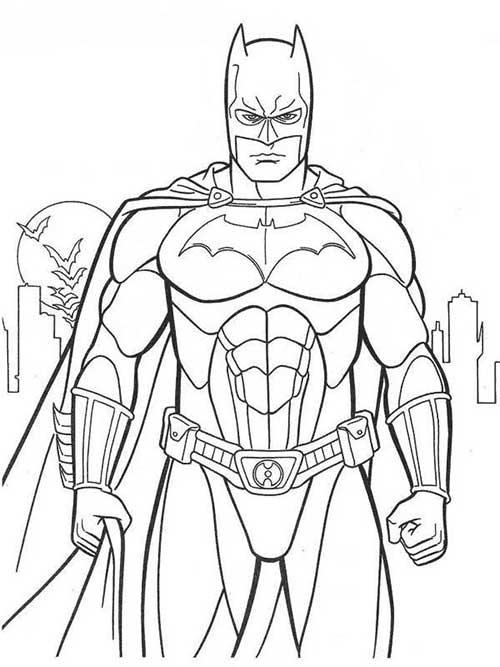 15 desenhos do batman para baixar e pintar