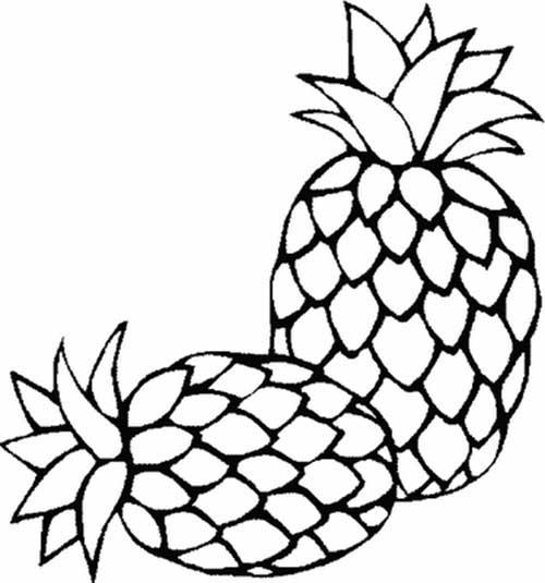 20 Desenhos De Frutas Para Criancas Pintarem