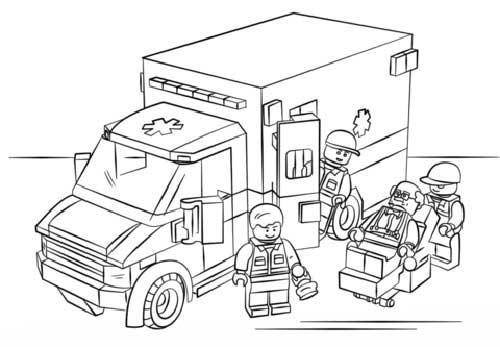 Desenhos De Lego Para Colorir E Pintar