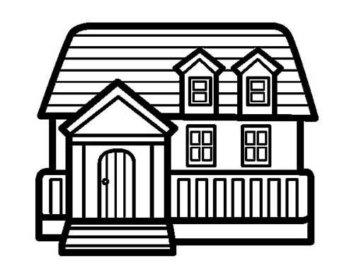25 desenhos de casas para baixar e pintar colorir - Presupuestos para pintar una casa ...