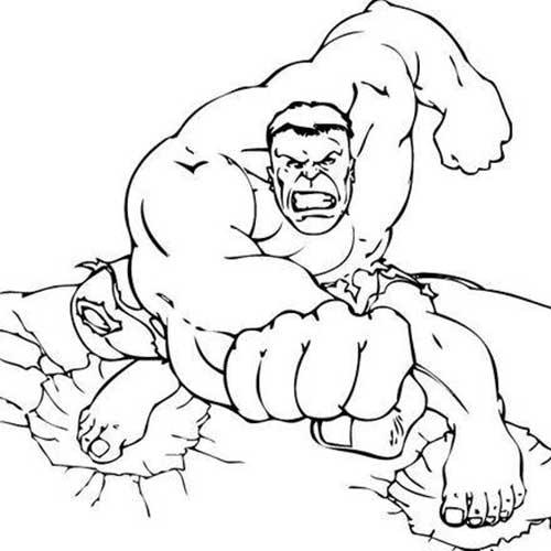 25 desenhos do hulk para pintar colorir em casa
