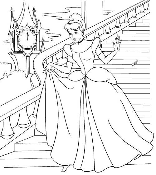 75 Desenhos Da Cinderela Para Colorir Em Casa