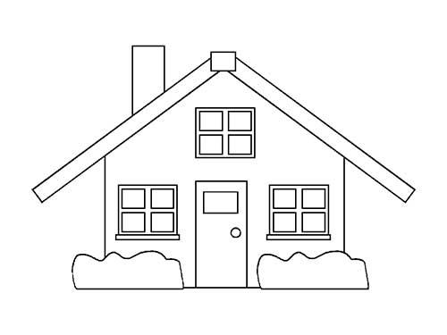 Dibujos De Casas Con Chimenea Para Colorear - Para Pintar Una Casa ...