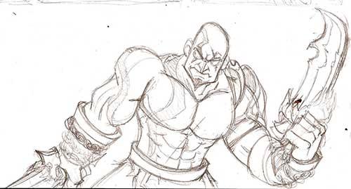 15 desenhos do kratos para pintar em casa