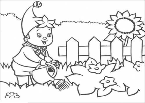 30 desenhos de jardim para crianças colorir grátis
