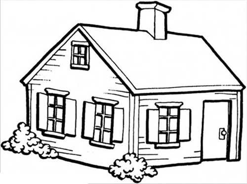 25 desenhos de casas para baixar e pintar colorir - Imagenes de casas para dibujar ...