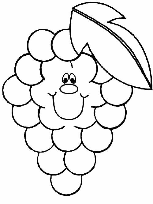20 desenhos de frutas para crianças pintarem
