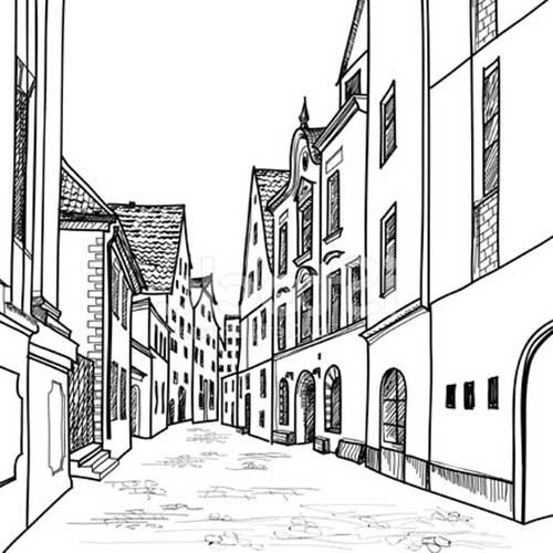 25 Desenhos De Casas Para Baixar E Pintar/Colorir