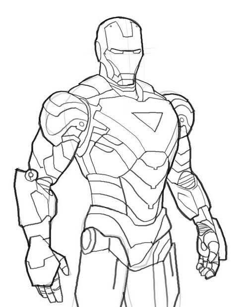 20 Desenhos Do Homem De Ferro Para Pintar Em Casa
