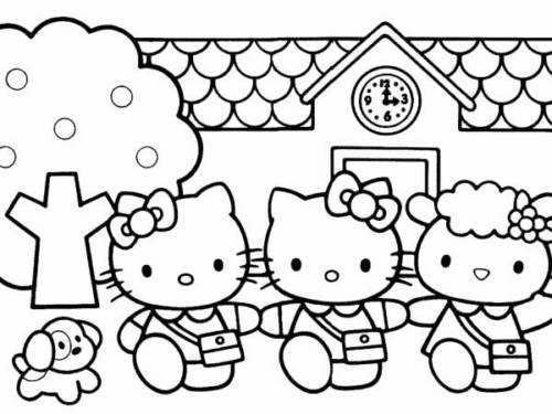 33 Desenhos Fofos Da Hello Kitty Para Colorir Em Casa