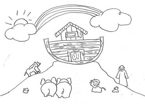 33 Desenhos Da Arca De Noe Diluvio Para Pintar E Se Divertir