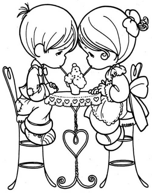 desenhos de amor para imprimir