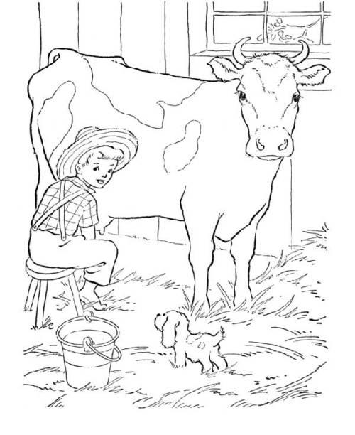 desenhos de fazenda para colorir
