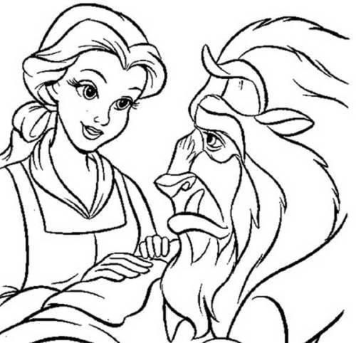 desenhos da bela e a fera