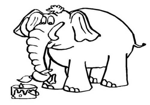 desenhos de elefantes para colorir