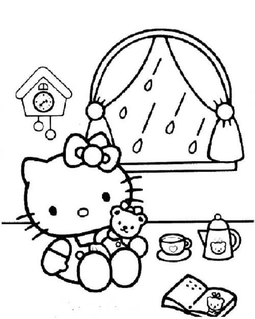 desenhos da hello kitty para pntar