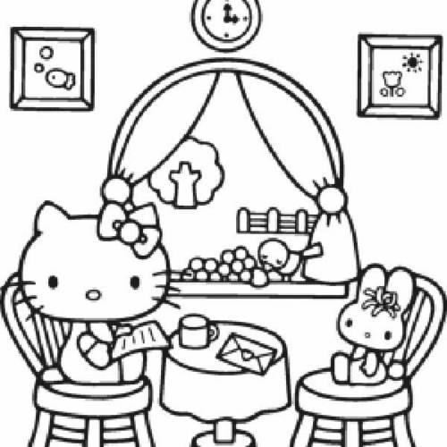 desenhos da hello kitty para colorir