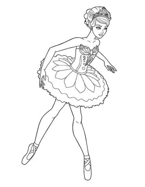 bailarina para pintar
