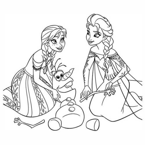 35 Desenhos Divertidos Do Frozen Para Baixar E Colorir