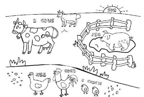 desenhos de fazenda