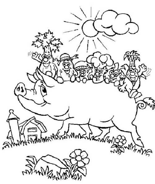 desenhos de fazenda para imprimir