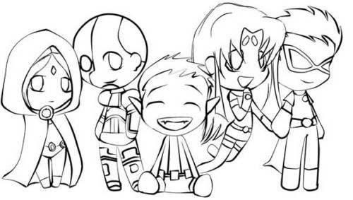 desenhos dos jovens titãs