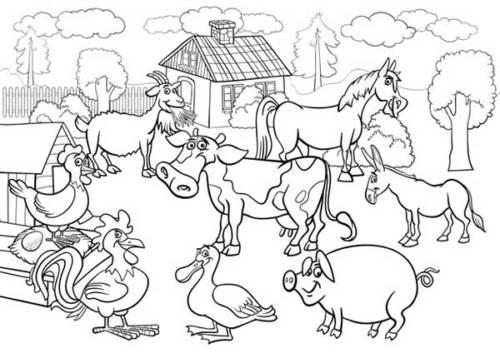 desenhos de fazenda para pintar